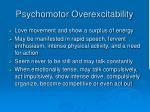 psychomotor overexcitability