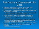 risk factors for depression in the gifted