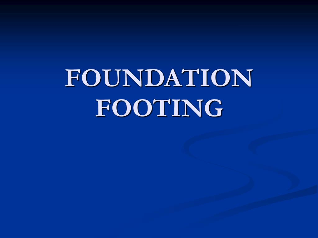 foundation footing l.