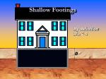 shallow footings