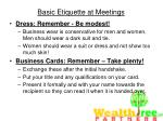 basic etiquette at meetings45