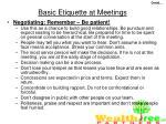 basic etiquette at meetings46