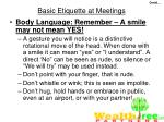 basic etiquette at meetings47