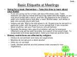 basic etiquette at meetings48
