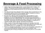 beverage food processing