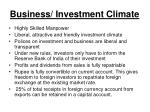 business investment climate