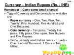 currency indian rupees rs inr