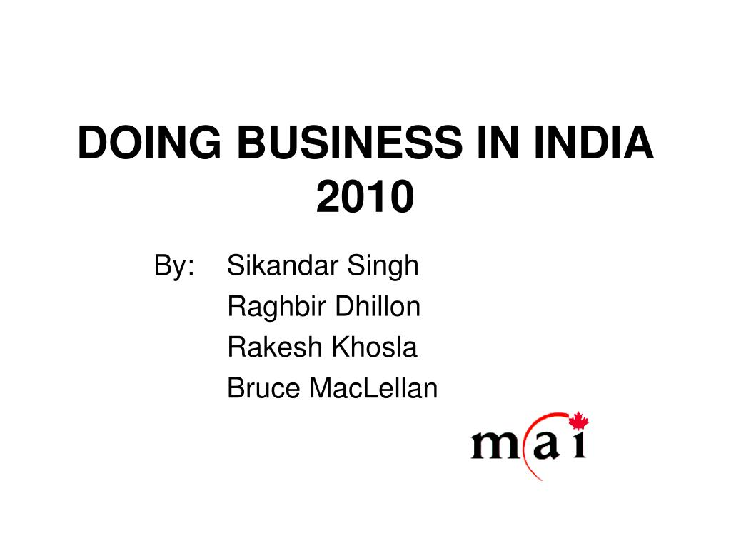 doing business in india 2010 l.