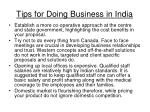tips for doing business in india35