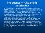 importance of citizenship verification
