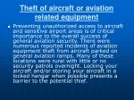 theft of aircraft or aviation related equipment