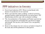 ppp initiatives in forestry