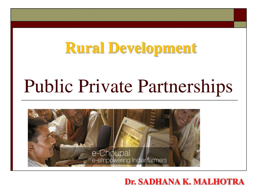 public private partnerships l.