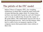 the pitfalls of the itc model
