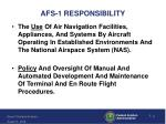 afs 1 responsibility
