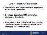 afs 410 responsibilities
