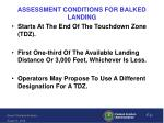 assessment conditions for balked landing