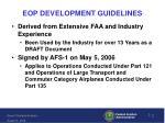 eop development guidelines