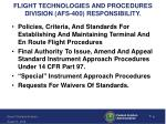 flight technologies and procedures division afs 400 responsibility