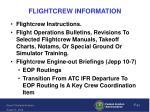 flightcrew information