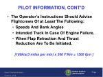pilot information cont d