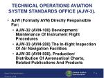 technical operations aviation system standards office ajw 3