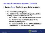 the area analysis method cont d