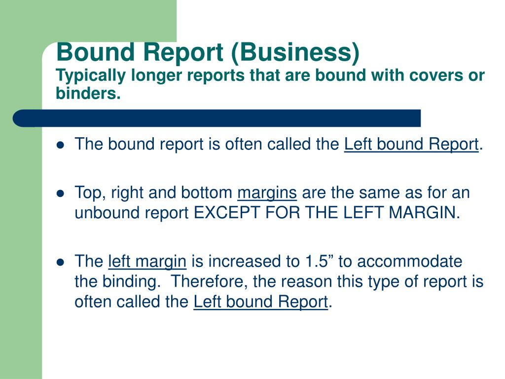 Bound Report (Business)