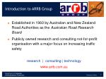 introduction to arrb group