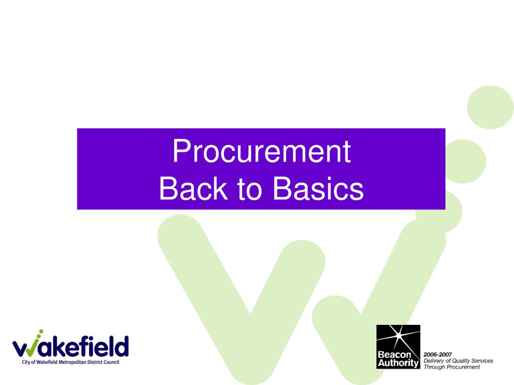 procurement back to basics l.