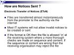 how are notices sent