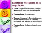 estrategias y o t cticas de la negociaci n
