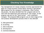 checking your knowledge28