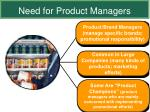 need for product managers