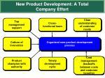 new product development a total company effort