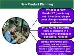 new product planning