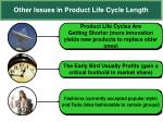 other issues in product life cycle length