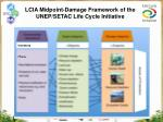 lcia midpoint damage framework of the unep setac life cycle initiative