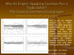 why do english speaking countries run a trade deficit the curse of commercial languages16