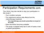 participation requirements cont