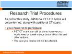 research trial procedures