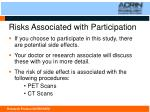 risks associated with participation