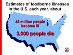 estimates of foodborne illnesses in the u s each year about