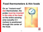 food thermometers thin foods
