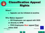 classification appeal rights34