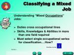 classifying a mixed job27