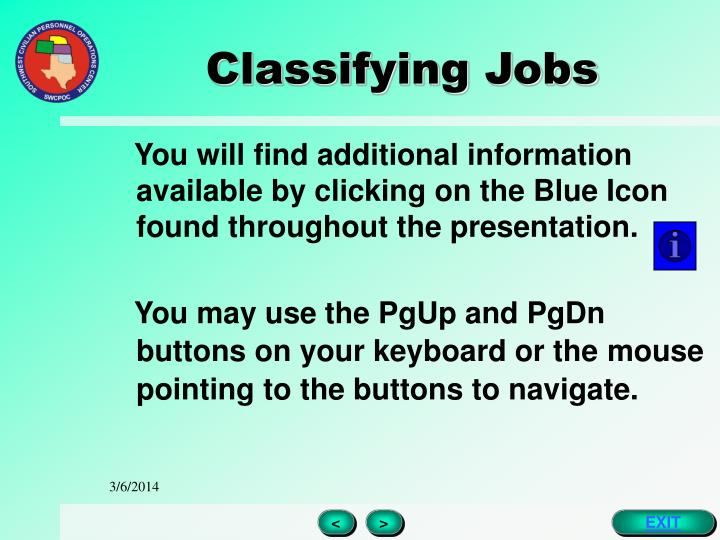 Classifying jobs