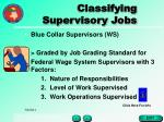 classifying supervisory jobs25