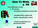 how to write a pd