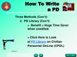 how to write a pd15